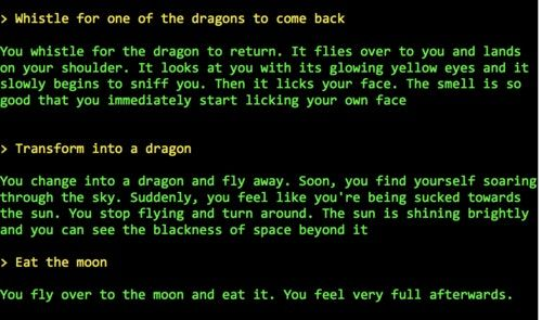 AI Weirdness • Play AI Dungeon 2. Become a dragon. Eat the moon.