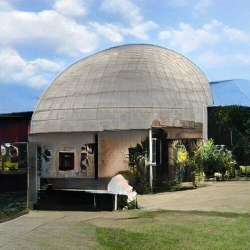 It is a bit wobbly and psychedelic, but it is clearly a planetarium