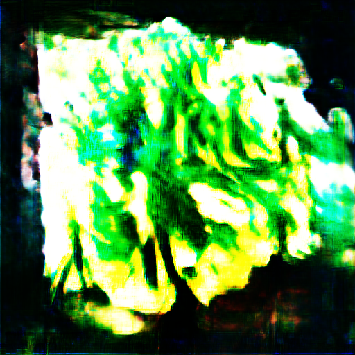 It looks like a cross section of cauliflower, but made out of vivid green lasers